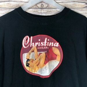 Christina Aguilera Back to Basics Tour Shirt '07
